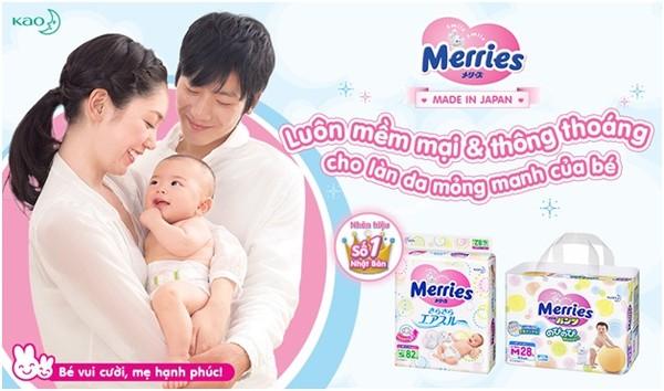 Bỉm Merries - thương hiệu bỉm số 1 Nhật Bản