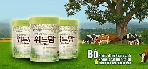 Sữa With Mom 100% nguyên liệu hữu cơ