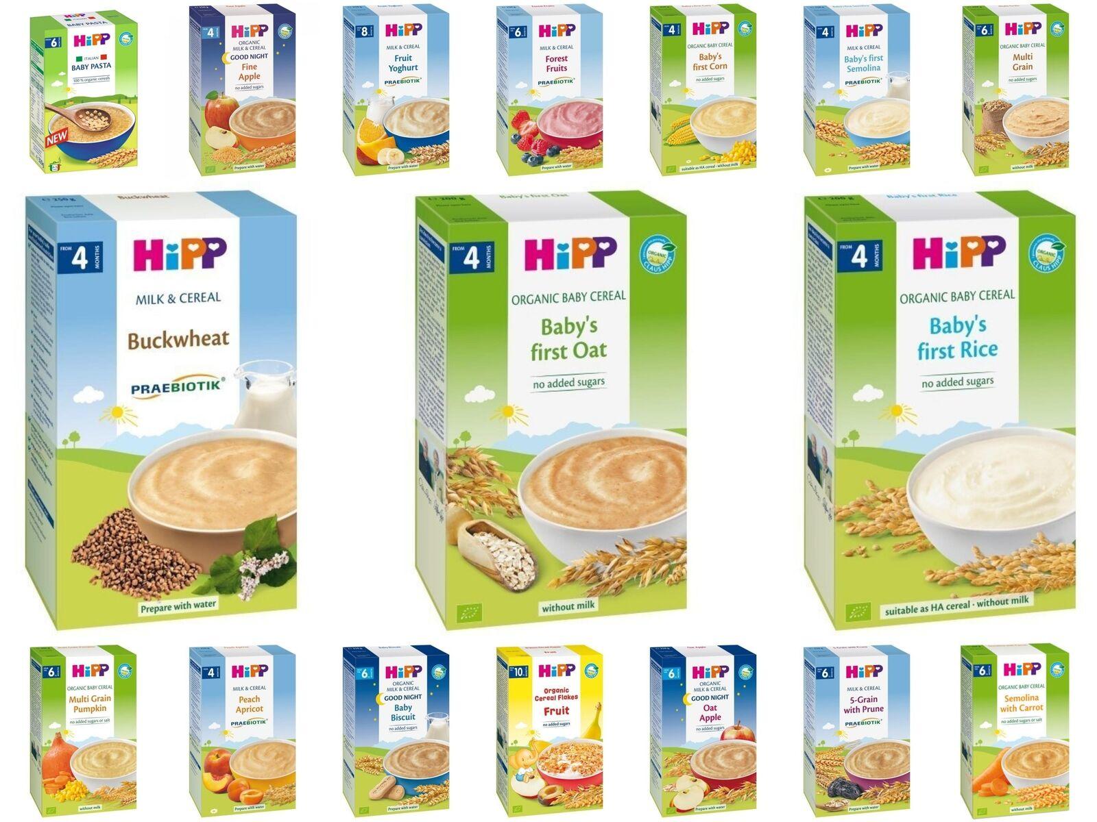 Các sản phẩm của bột ăn dặm HiPP