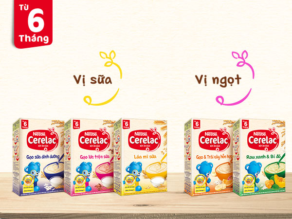 Các vị bột ăn dặm Nestle - Cerelac