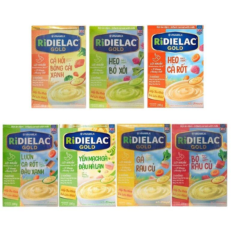 Bột ăn dặm Ridielac có hương vị đa dạng