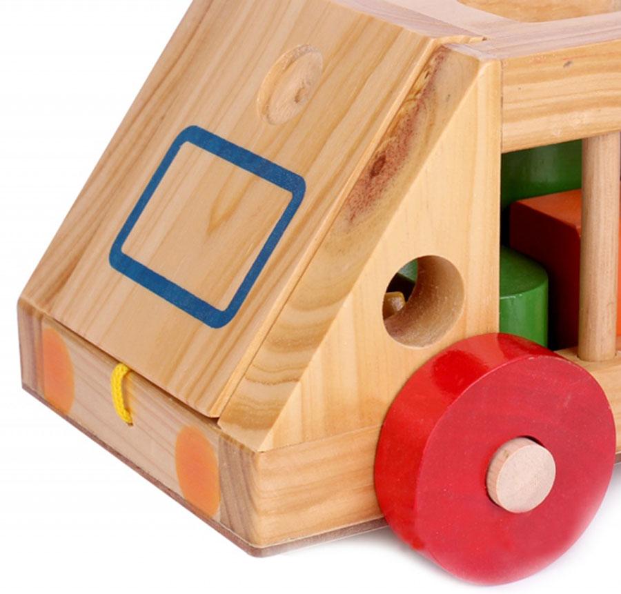 Ô tô thả hình gỗ Kitty chất liệu gỗ an toàn dành cho bé