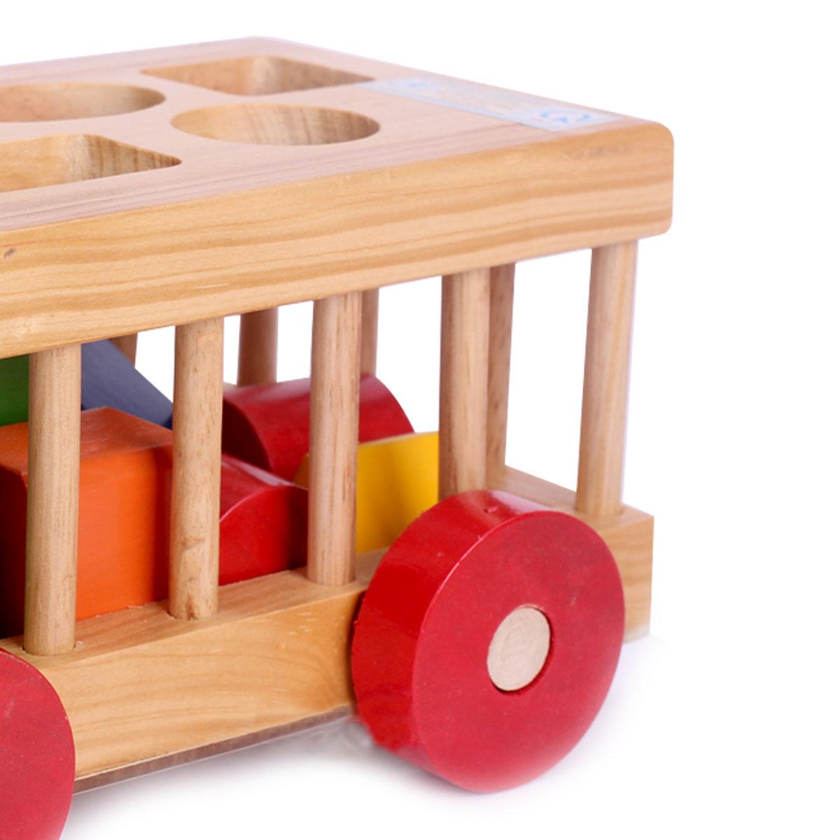 Ô tô thả hình gỗ Kitty thiết kế thông minh cho bé