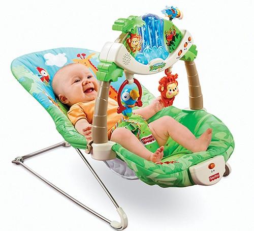 Ghế rung giúp bé nghỉ ngơi, vui chơi thoải mái