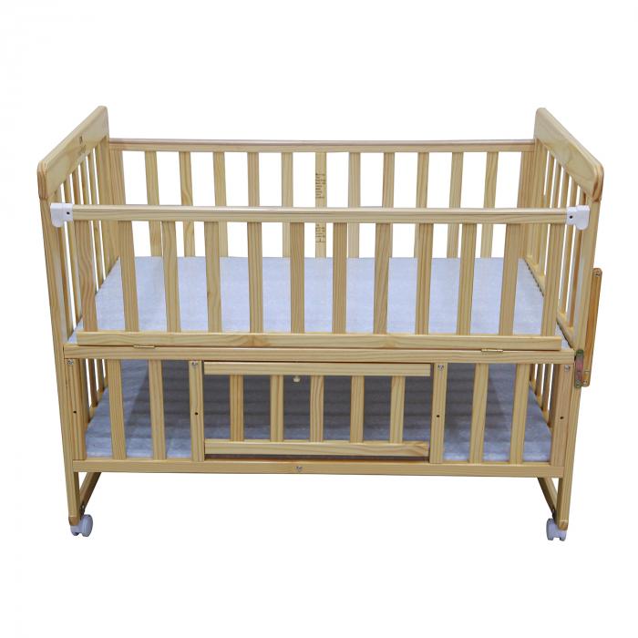 Giường cũi cho bé có bánh lăn