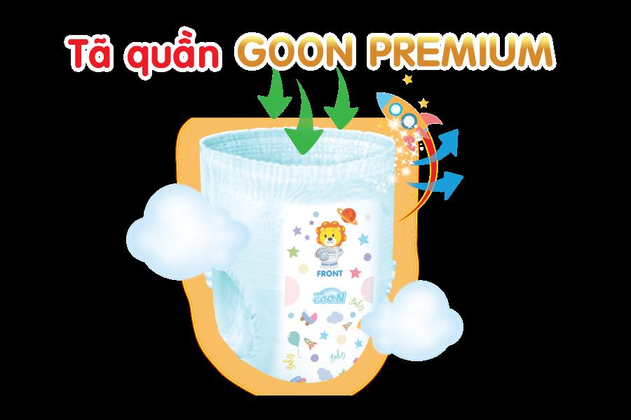 Tã quần Goon Premium size L 46 miếng