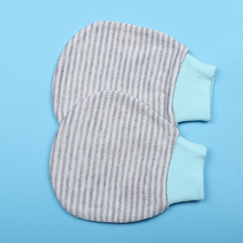 Bộ bao tay chân sọc màu + mũ hai lớp MT19