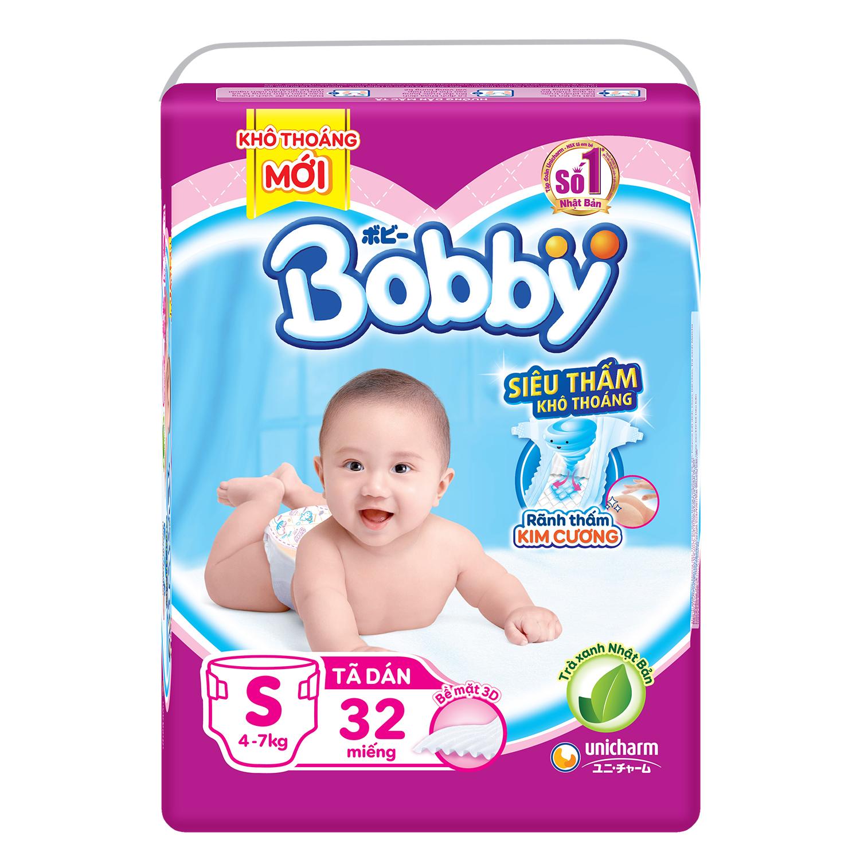 Bỉm - Tã dán Bobby size S - 32 miếng
