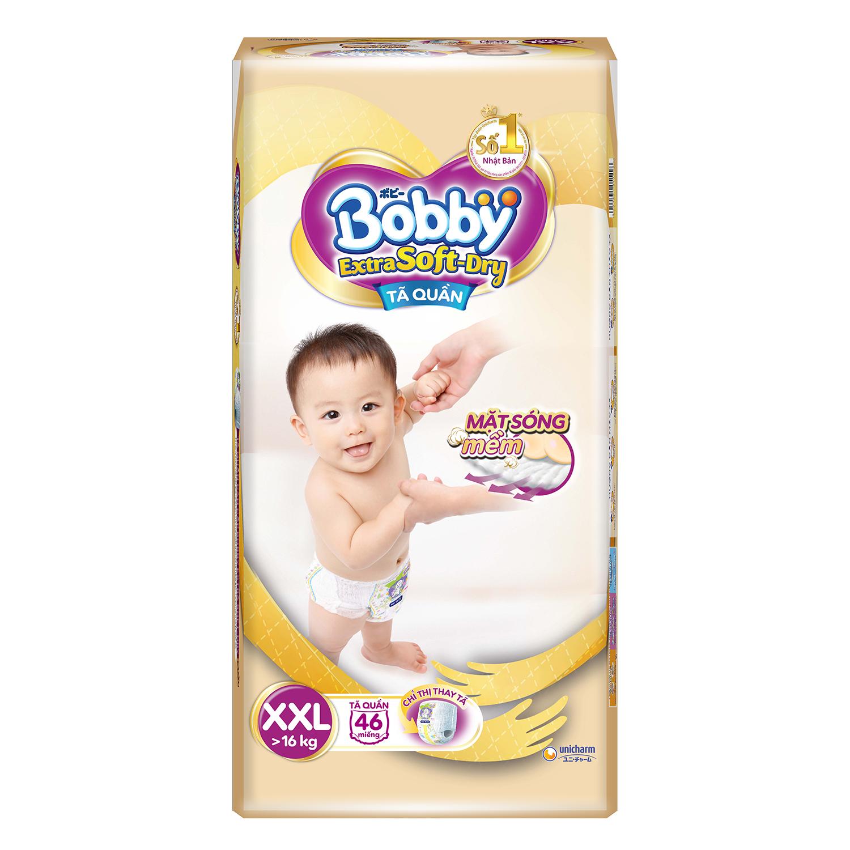 Bỉm - Tã quần Bobby Extra Soft-Dry size XXL 46 miếng (Cho bé >16kg)