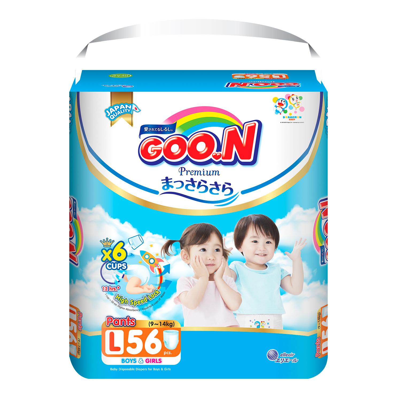 Bỉm - Tã quần Goon Premium size L 56 miếng (cho bé 9-14kg)