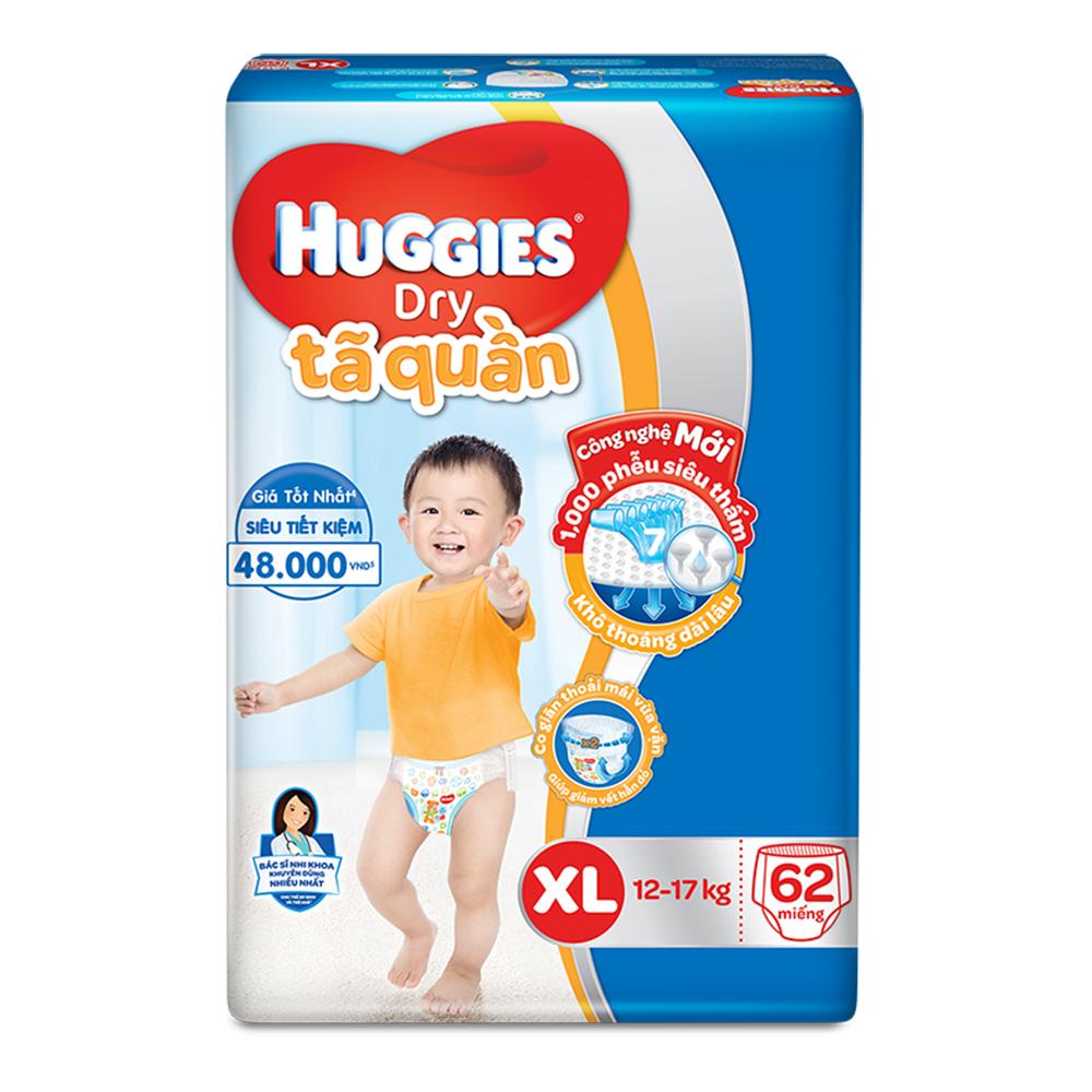tã quần huggies size xl 62 miếng