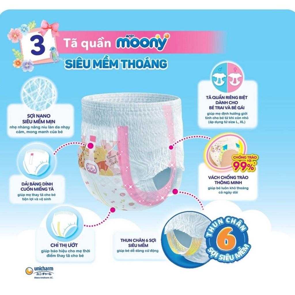 Tã quần Moony cộng miếng size M siêu thấm