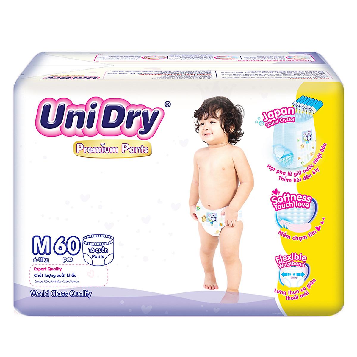 Tã Quần Unidry Premium size M 60miếng