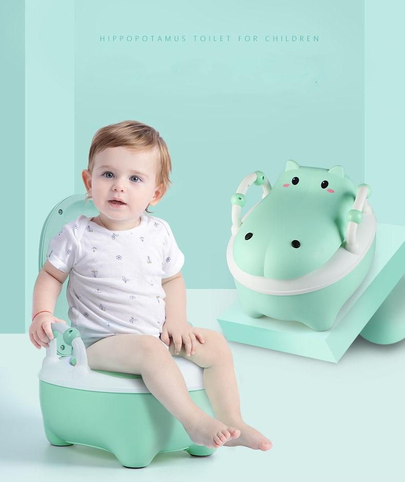 Bô vệ sinh cho bé hình chú Hà Mã