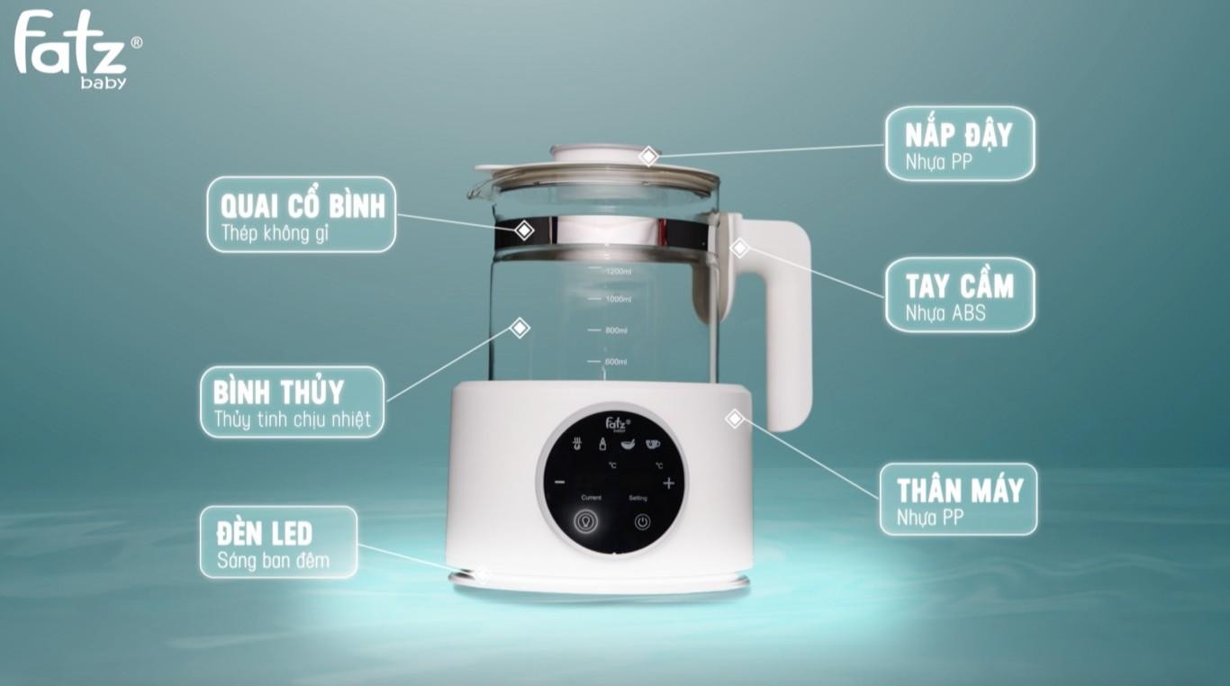 Cấu tạo máy hâm và đun nước pha sữa Fatzbaby