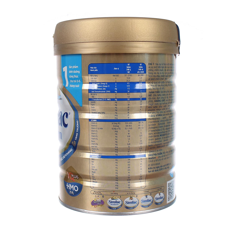 Sữa Similac IQ HMO Gold Lable Newborn 900g (0-6 tháng)