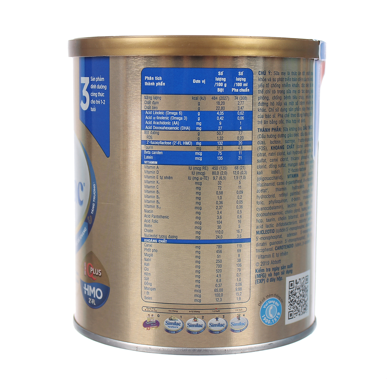 Sữa Similac IQ HMO Gold Lable số 3 400g (1-2 tuổi)