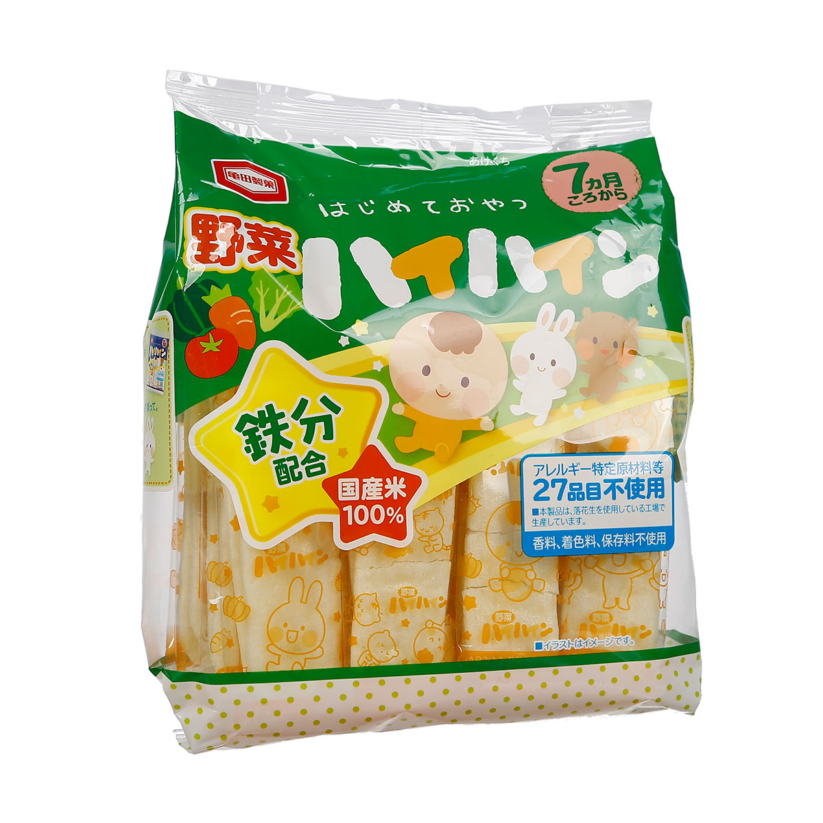 Bánh gạo tươi Nhật Haihain vị rau củ 53g