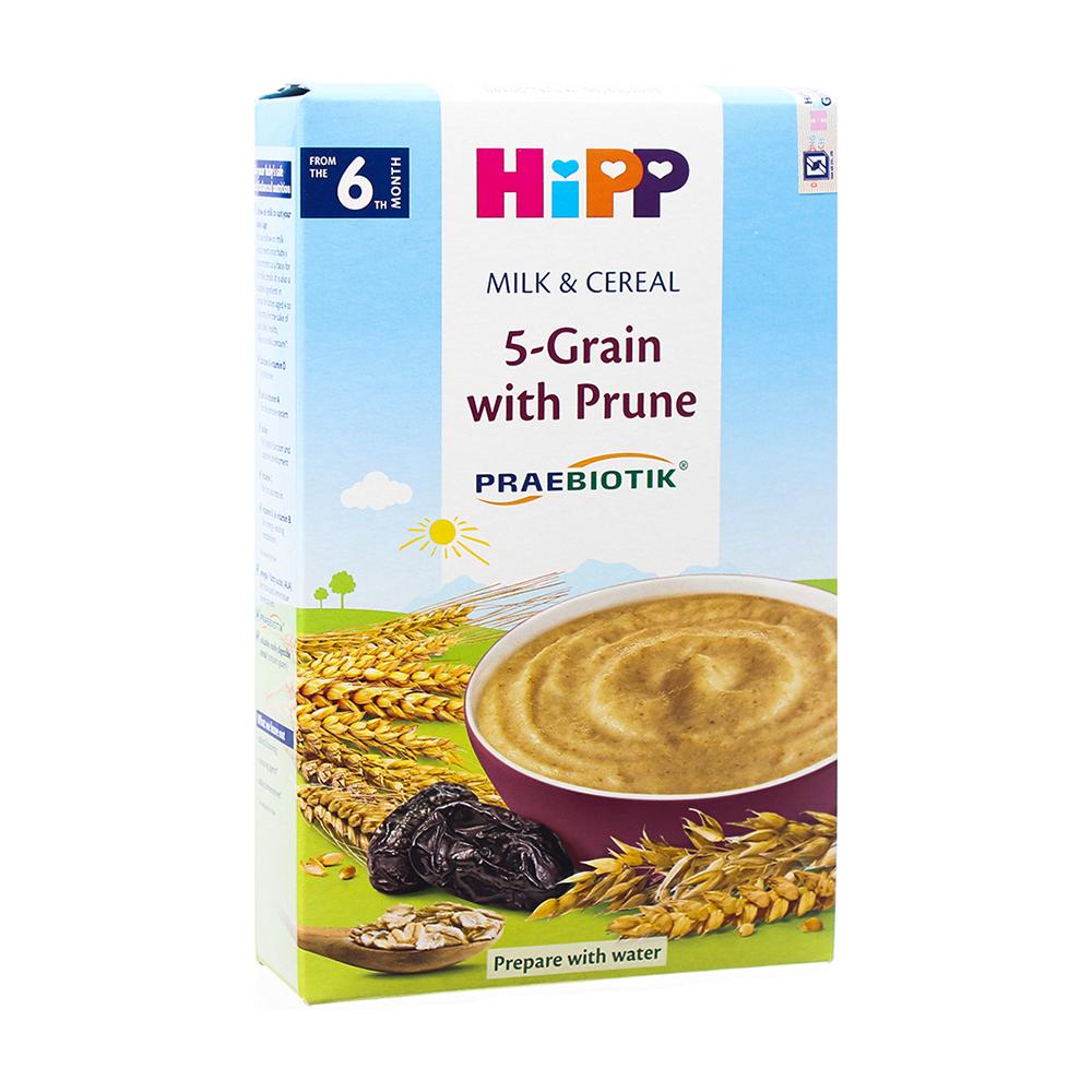 Bột ăn dặm HiPP vị ngũ cốc mận tây cho bé từ 6 tháng tuổi