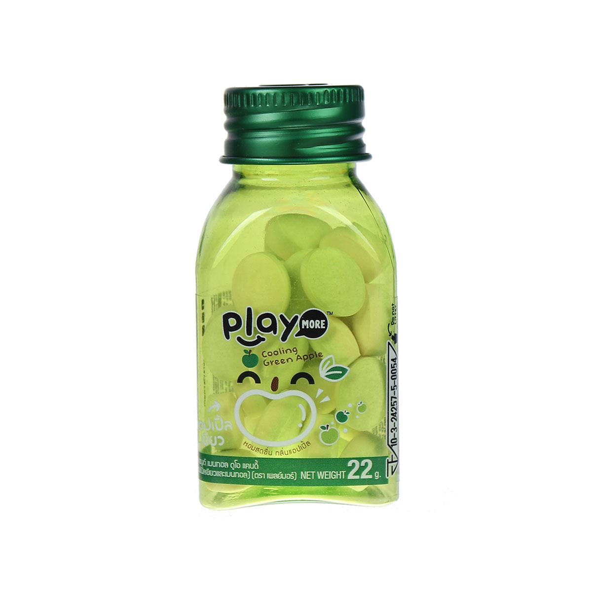 Kẹo the Playmore vị táo xanh hũ 22g