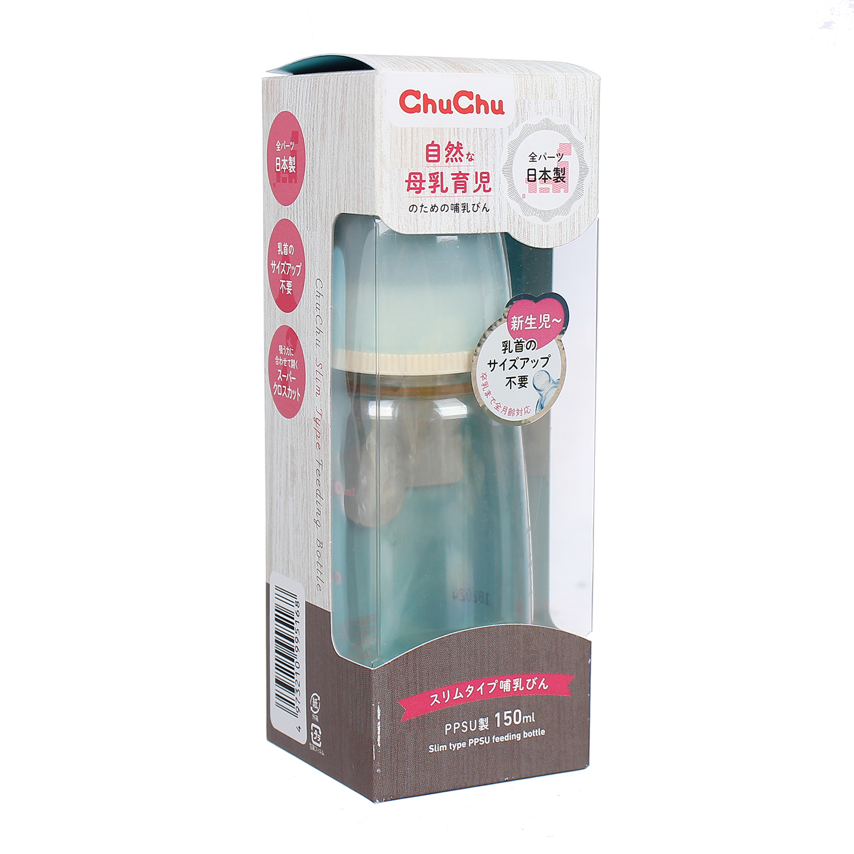 Bình sữa ChuchuBaby 240ml (Nhựa PPSU) có vạch chia rõ