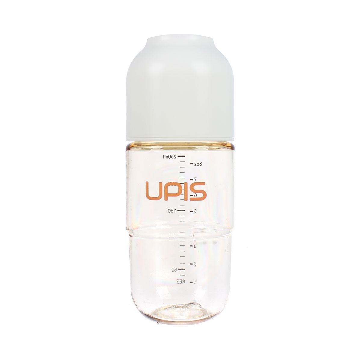 Bình sữa Upis Premium Pes 260ml (Trắng) cho bé từ 3 tháng tuổi trở lên
