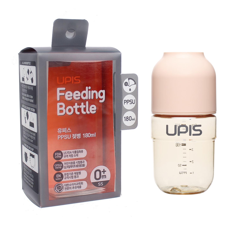 Bình sữa Upis Premium PPSU 180ml (Hồng)