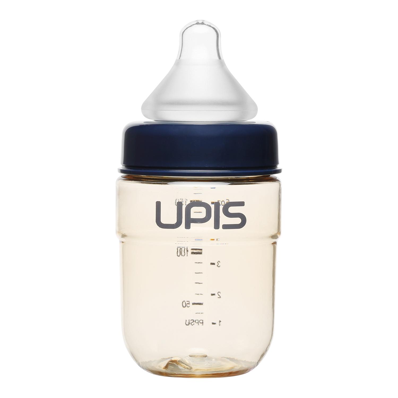 Bình sữa Upis Premium PPSU 180ml (Trắng) núm ty 100% silicone