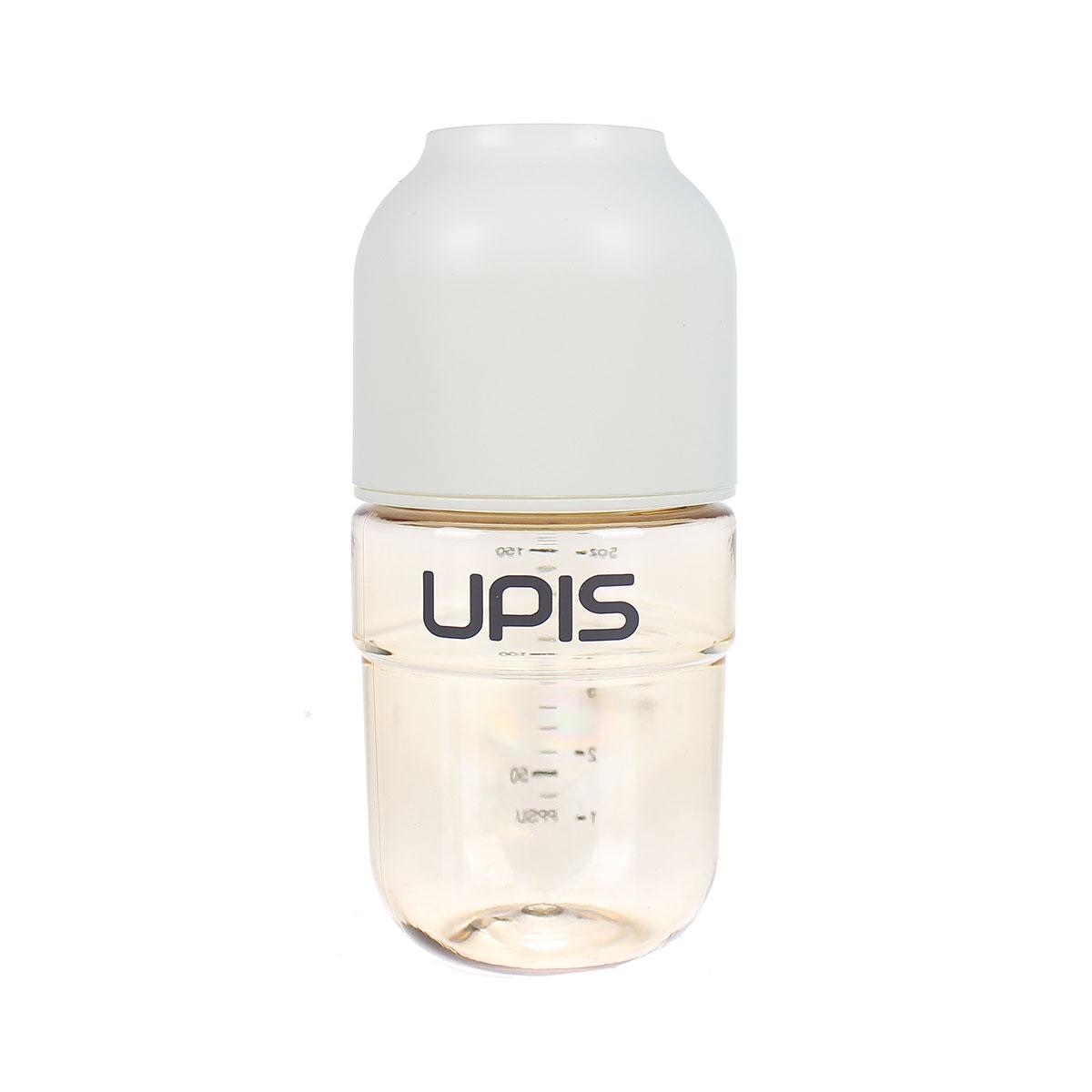 Bình sữa Upis Premium PPSU 180ml (Trắng) chất liệu an toàn