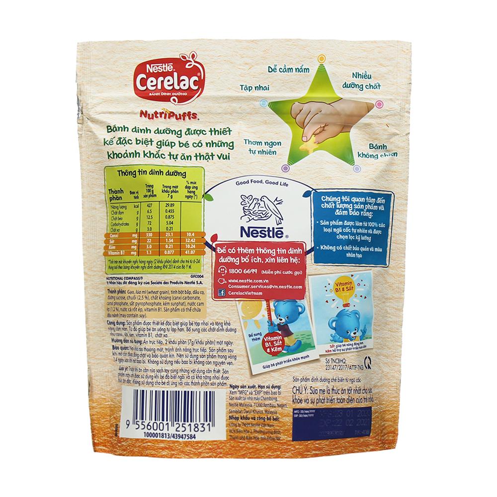 Các ưu điểm nổi bật của bánh ăn dặm Nestle Nutripuffs