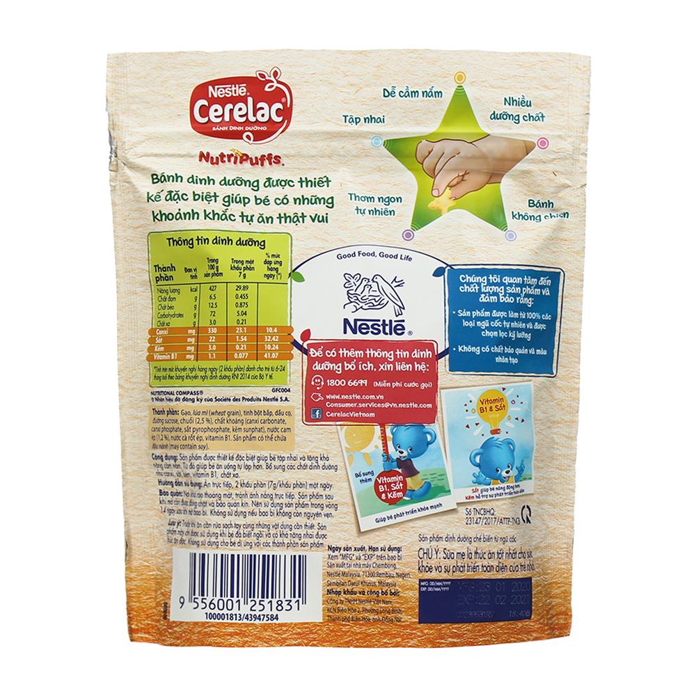 Ưu điểm của bánh ăn dặm Nestle