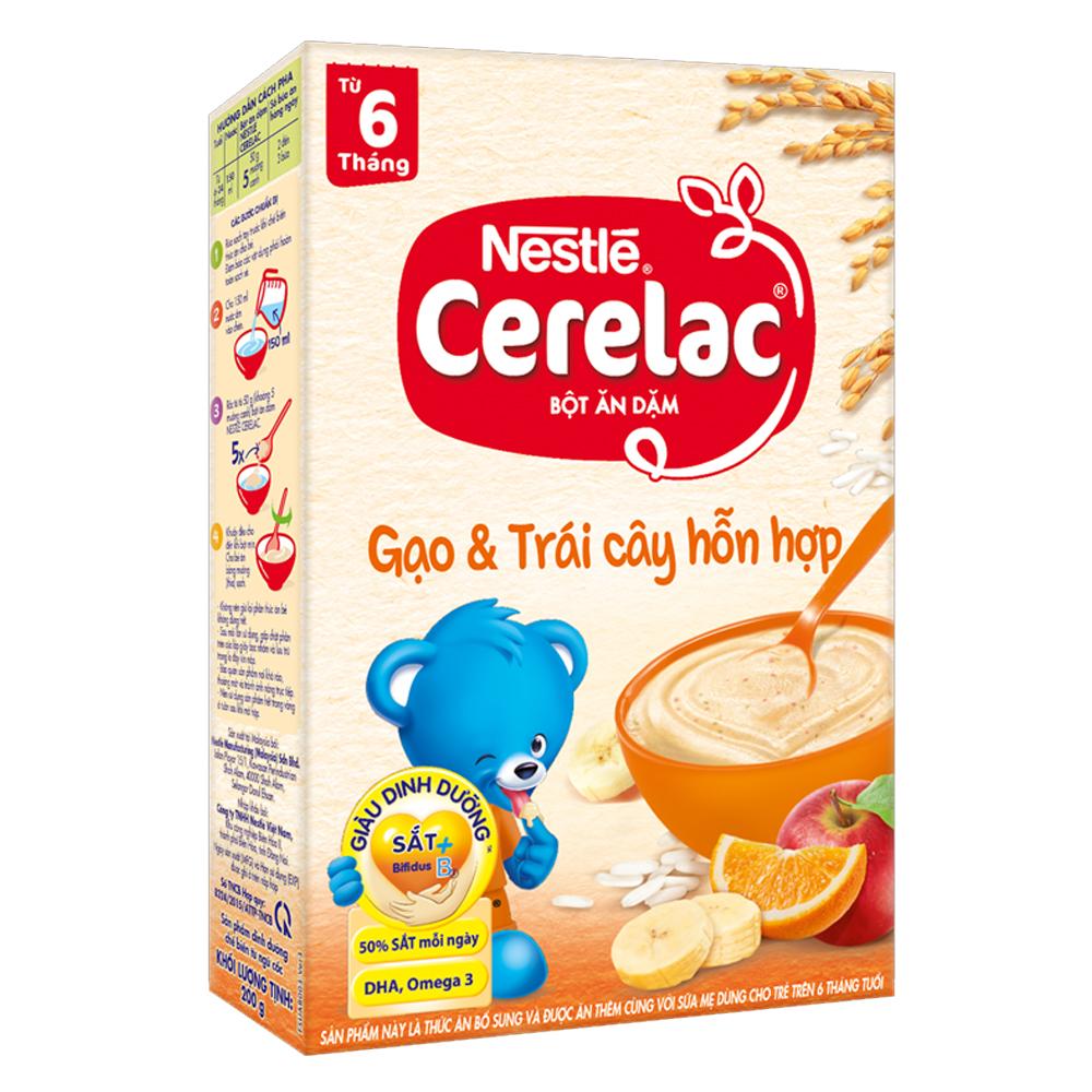 Bột ăn dặm Nestle Cerelac gạo và trái cây hỗn hợp