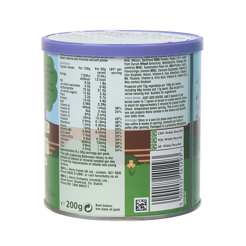 Thành phần dinh dưỡng bột ăn dặm mỳ ý rau phô mai