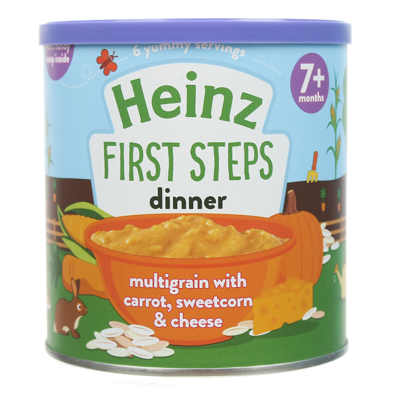 Bột ăn dặm Heinz ngũ cốc carot phô mai 200g