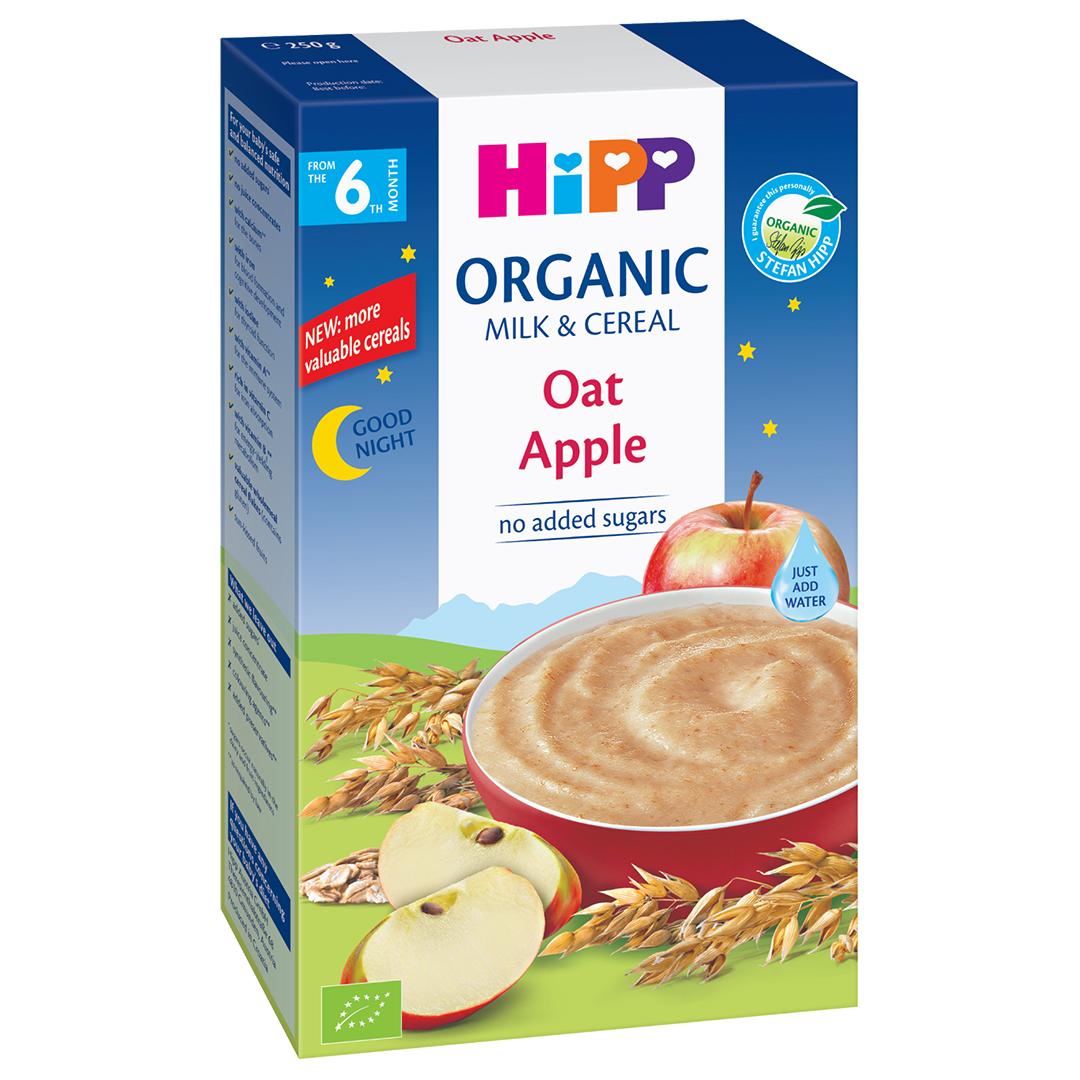 Bột ăn dặm HiPP sữa yến mạch táo 6M+