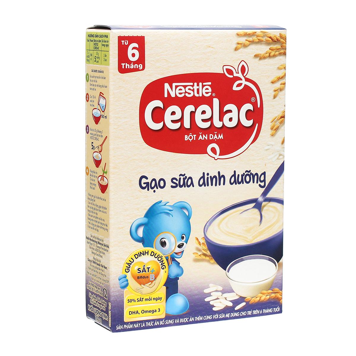 Bột ăn dặm Nestle Cerelac gạo sữa 200g
