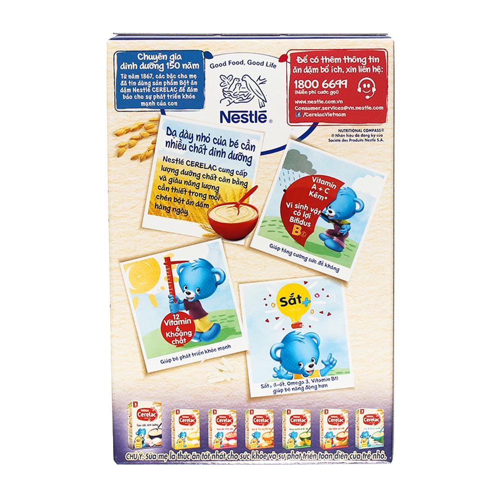 Ưu điểm bột ăn dặm Nestle Cerelac gạo sữa dinh dưỡng
