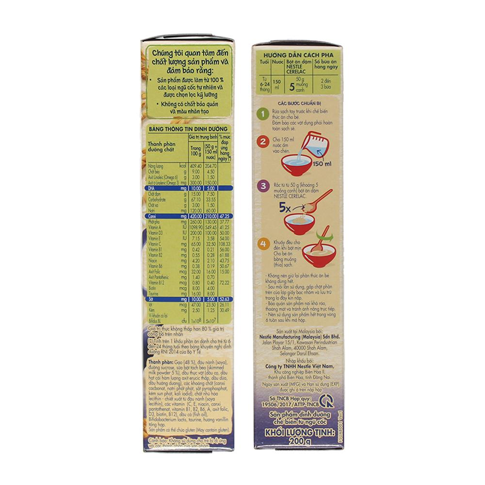 Hướng dẫn pha bột ăn dặm Nestle Cerelac gạo sữa