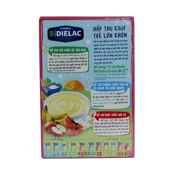 Ưu điểm bột ăn dặm Ridielac Gold gạo trái cây
