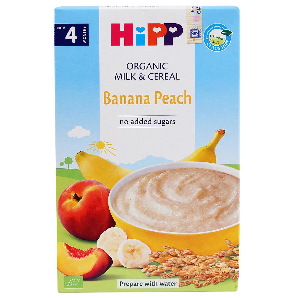 Bột ăn dặm HiPP vị sữa Chuối, Đào 250g