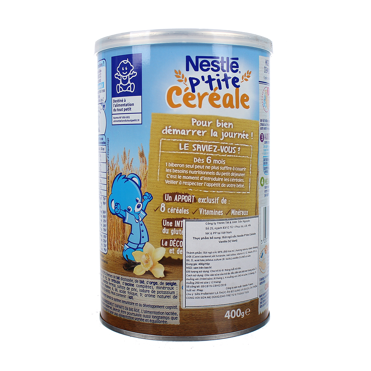 Thông tin bột pha sữa Nestle vị vani