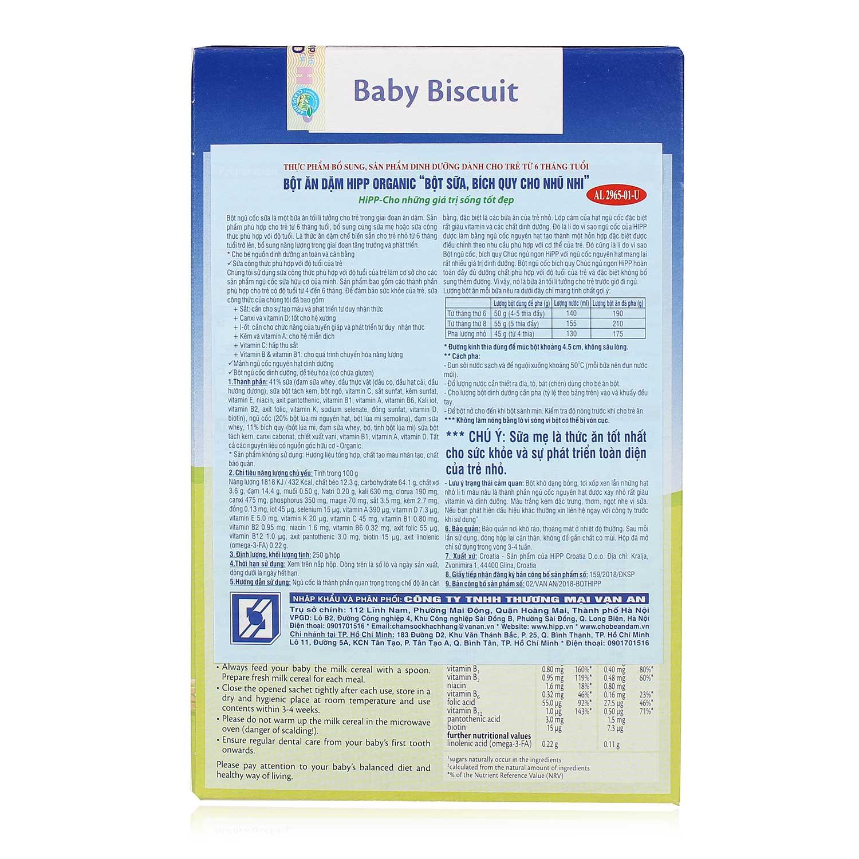 Thông tin cơ bản về bột ăn dặm HiPP
