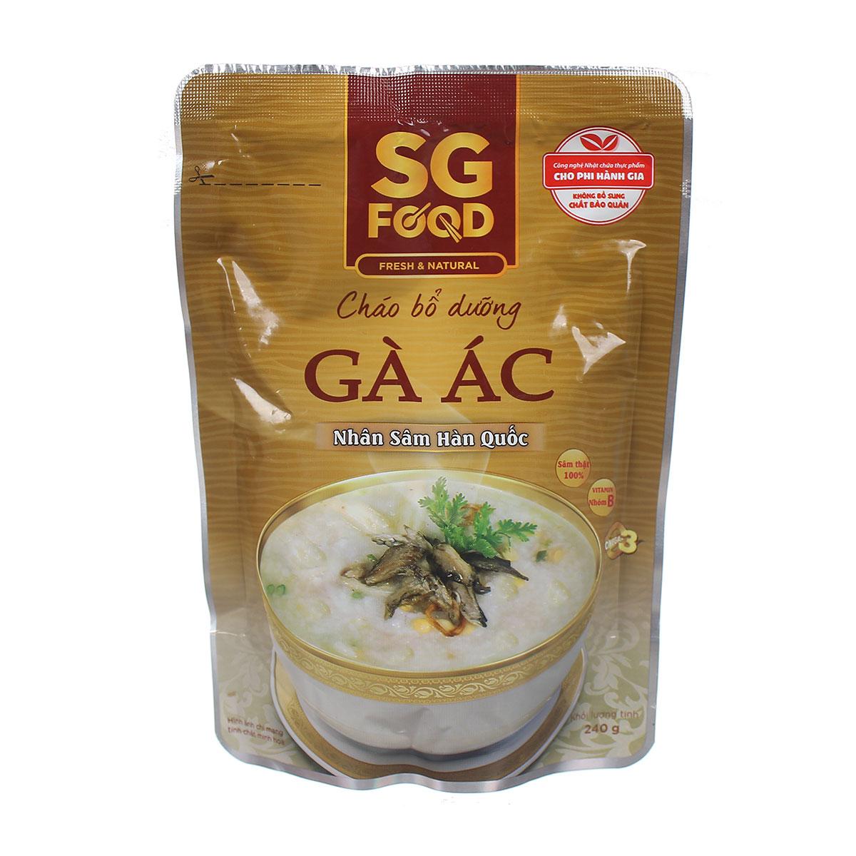 Cháo bổ dưỡng Sài Gòn Food vị gà ác nhân sâm 240g