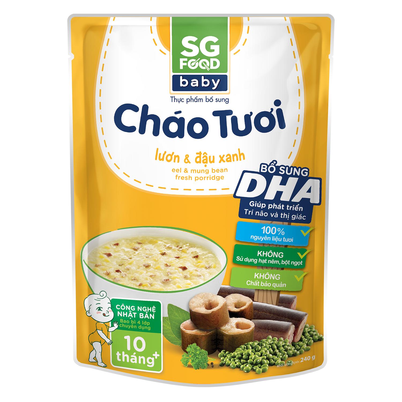 Cháo Sài Gòn Food vị lươn đậu xanh 240g