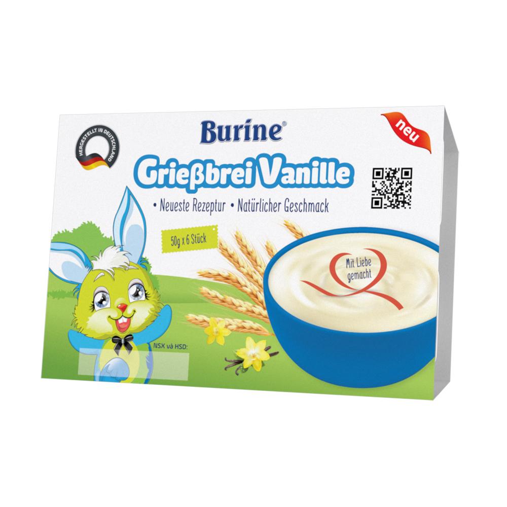 Cháo sữa Burine vị Vani 6x50g cho bé