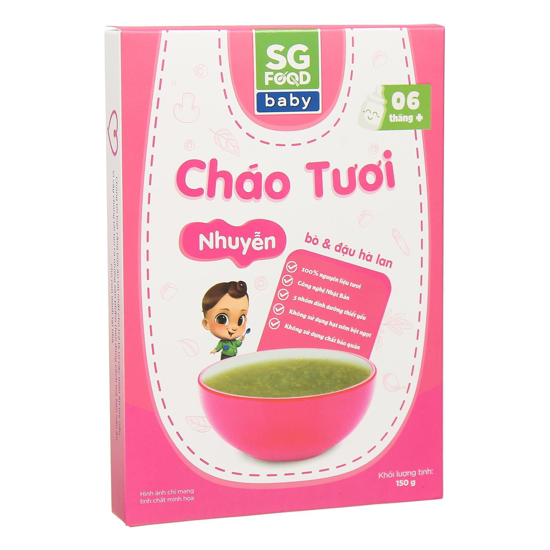 Cháo tươi Sài Gòn Food vị bò đậu hà lan