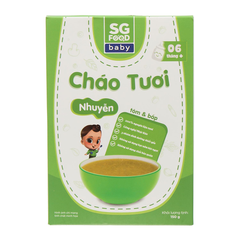 Cháo tươi Sài Gòn Food nhuyễn vị tôm và bắp