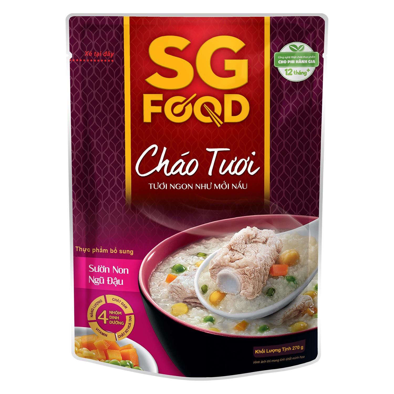 Cháo tươi Sài Gòn Food sườn non ngũ đậu