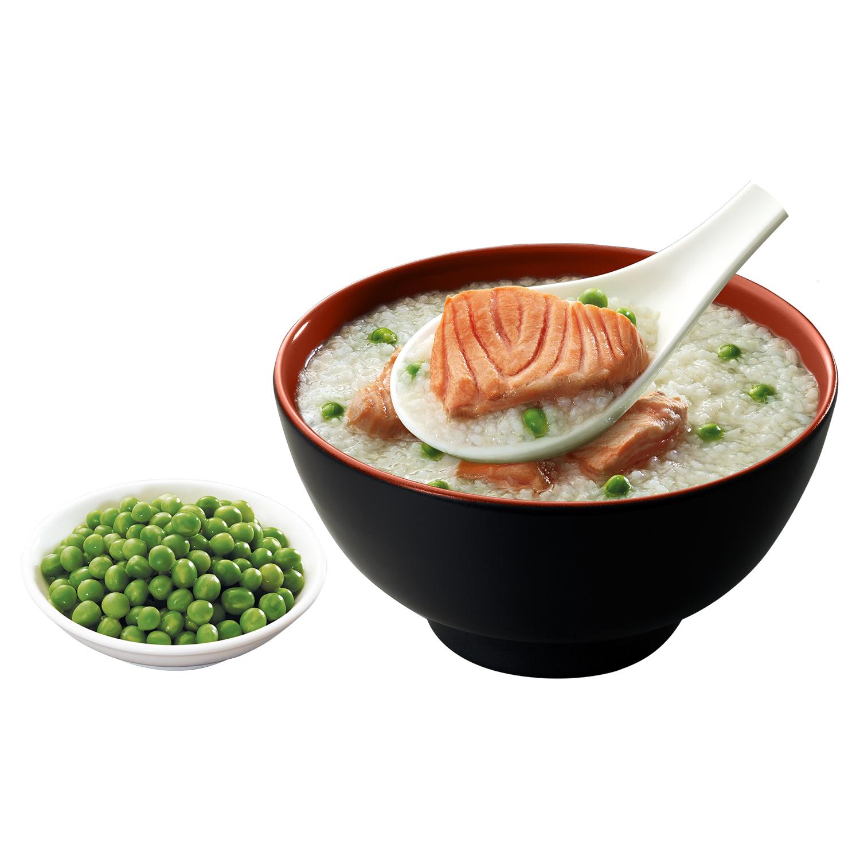 Cháo tươi Sài Gòn Food vị cá hồi & đậu hà lan cho bé 6 tháng