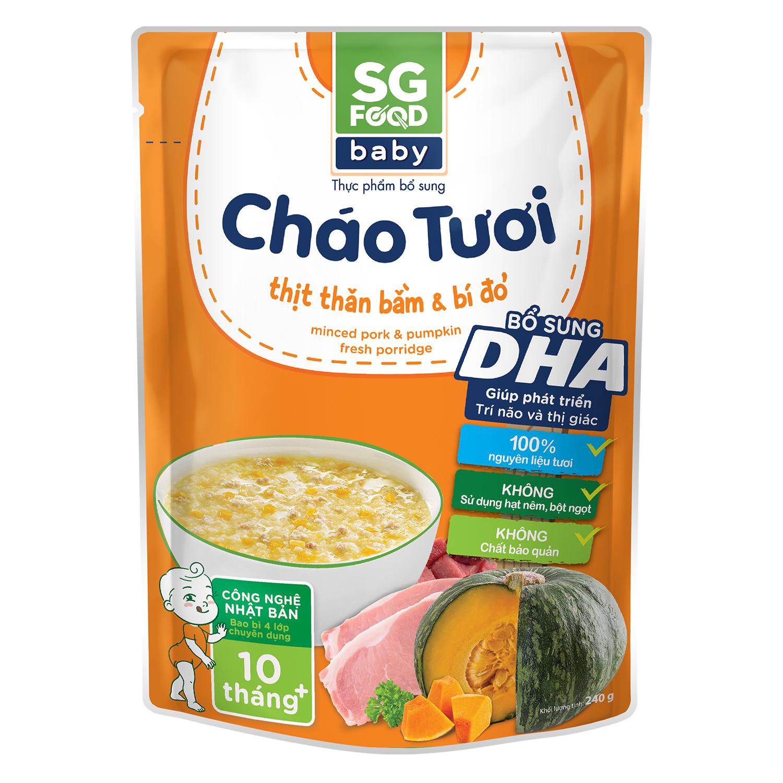Cháo tươi Sài Gòn Food Baby vị thịt bằm bí đỏ